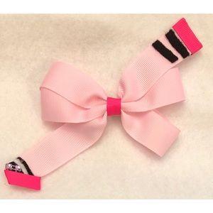 Pink Crayon hair bow